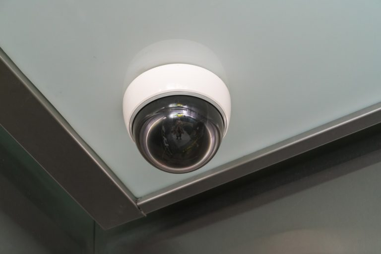 security camera on the ceiling