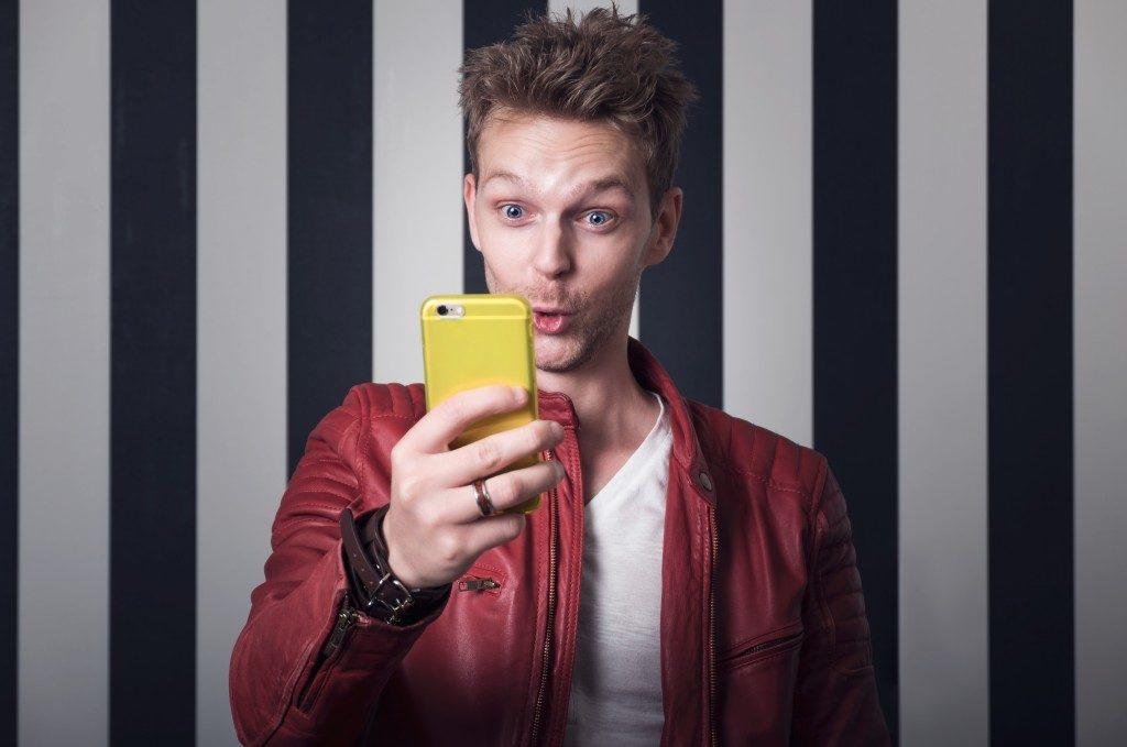 Man taking selfie