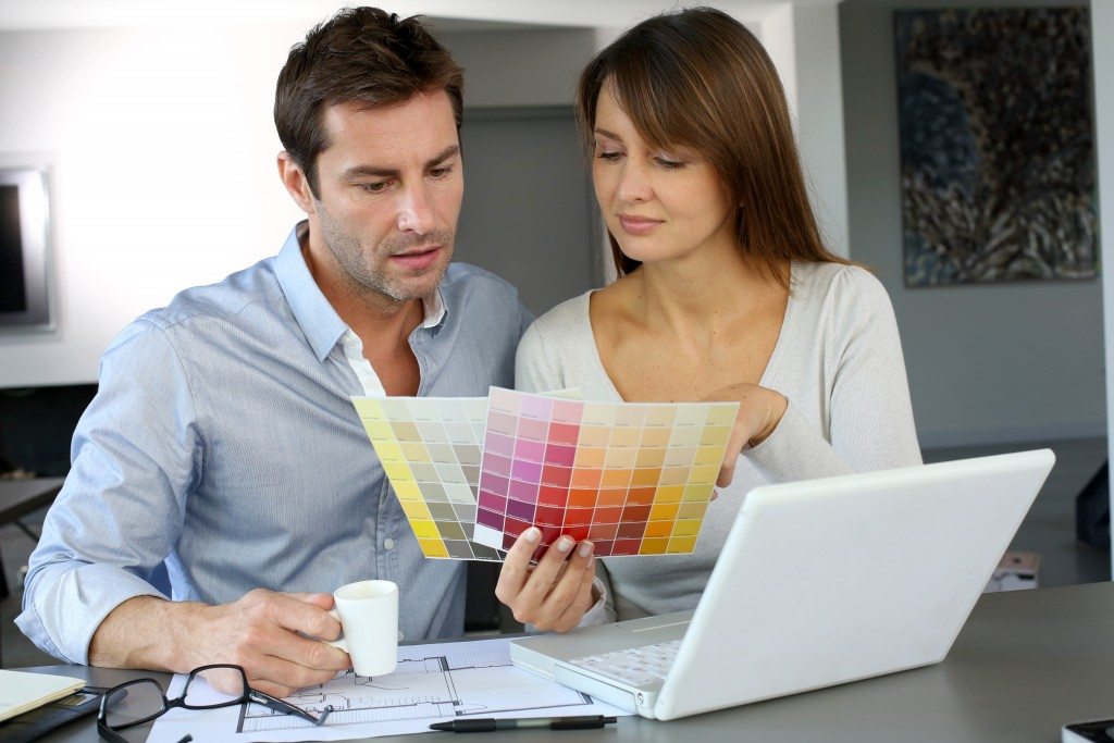couple planning for home renovation