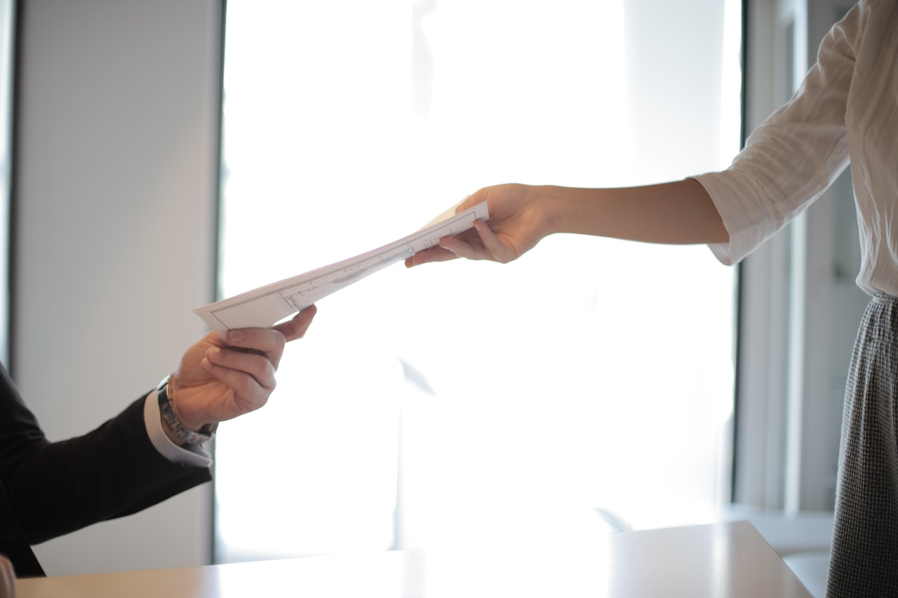 handing over resume