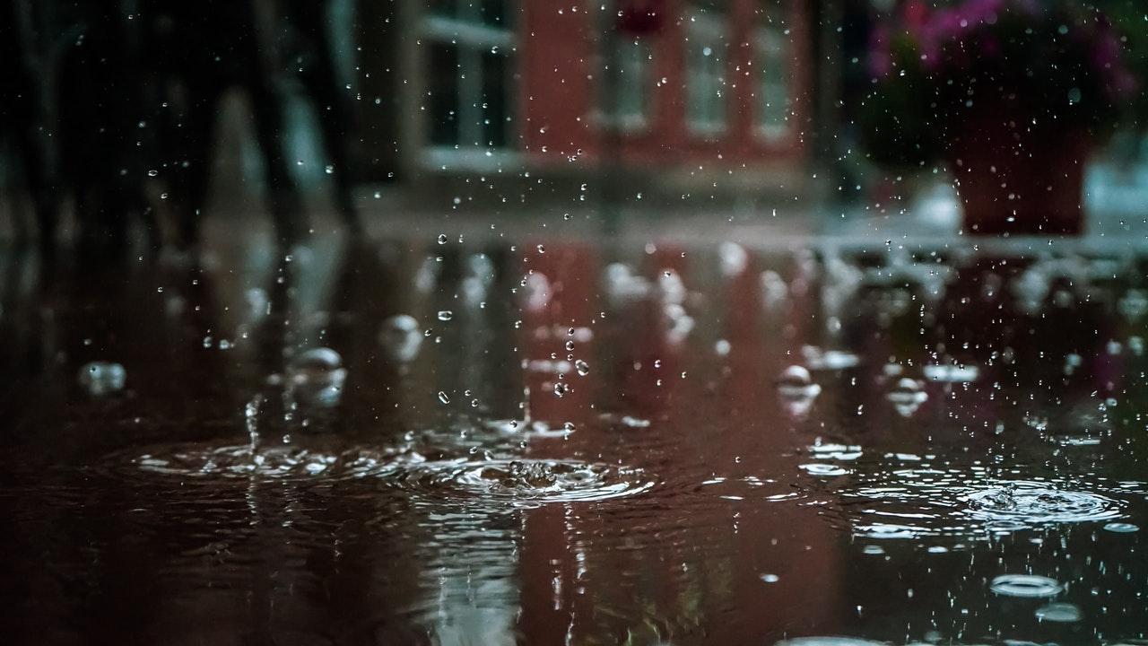 rain on the pavement
