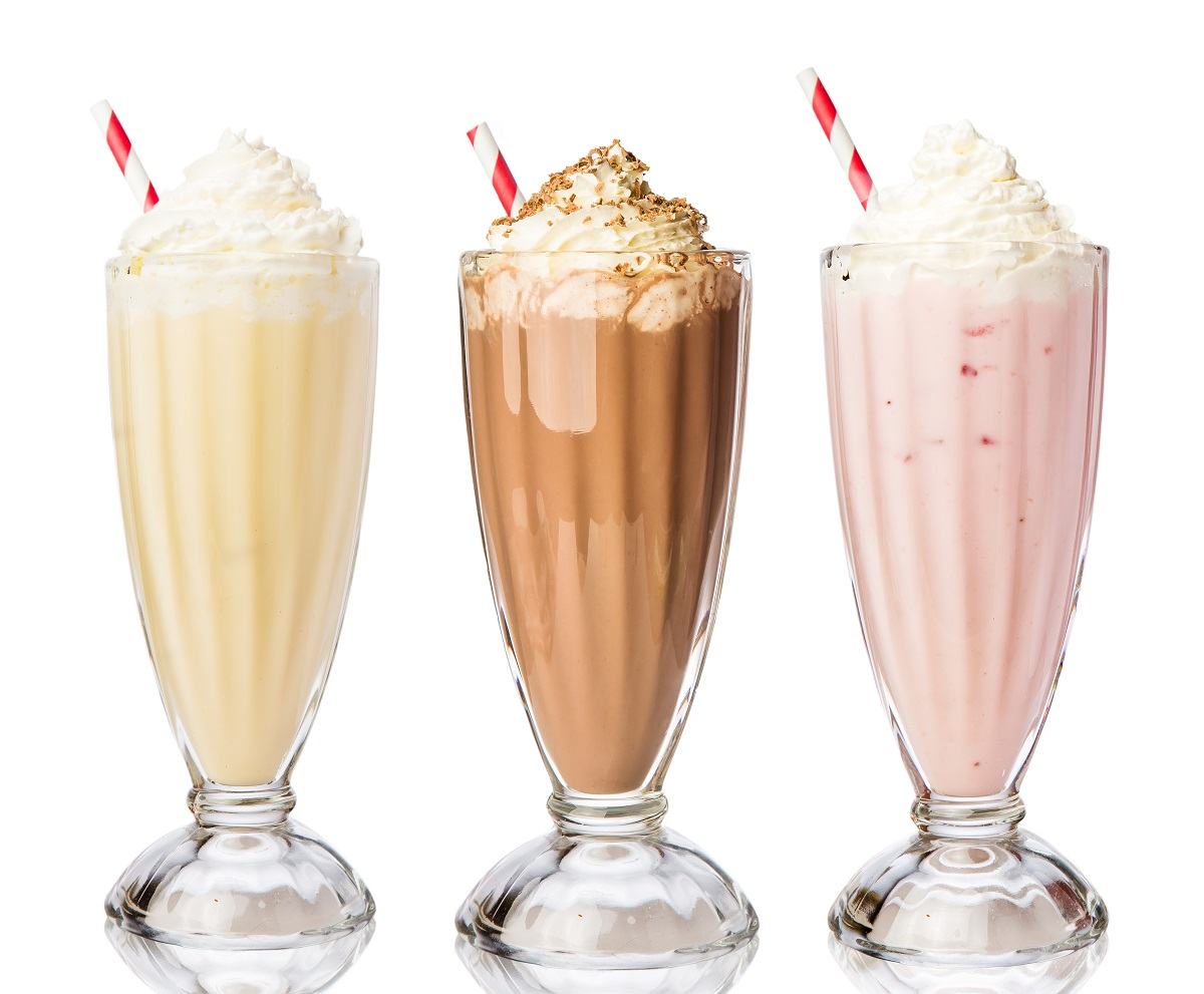 glasses of milkshake