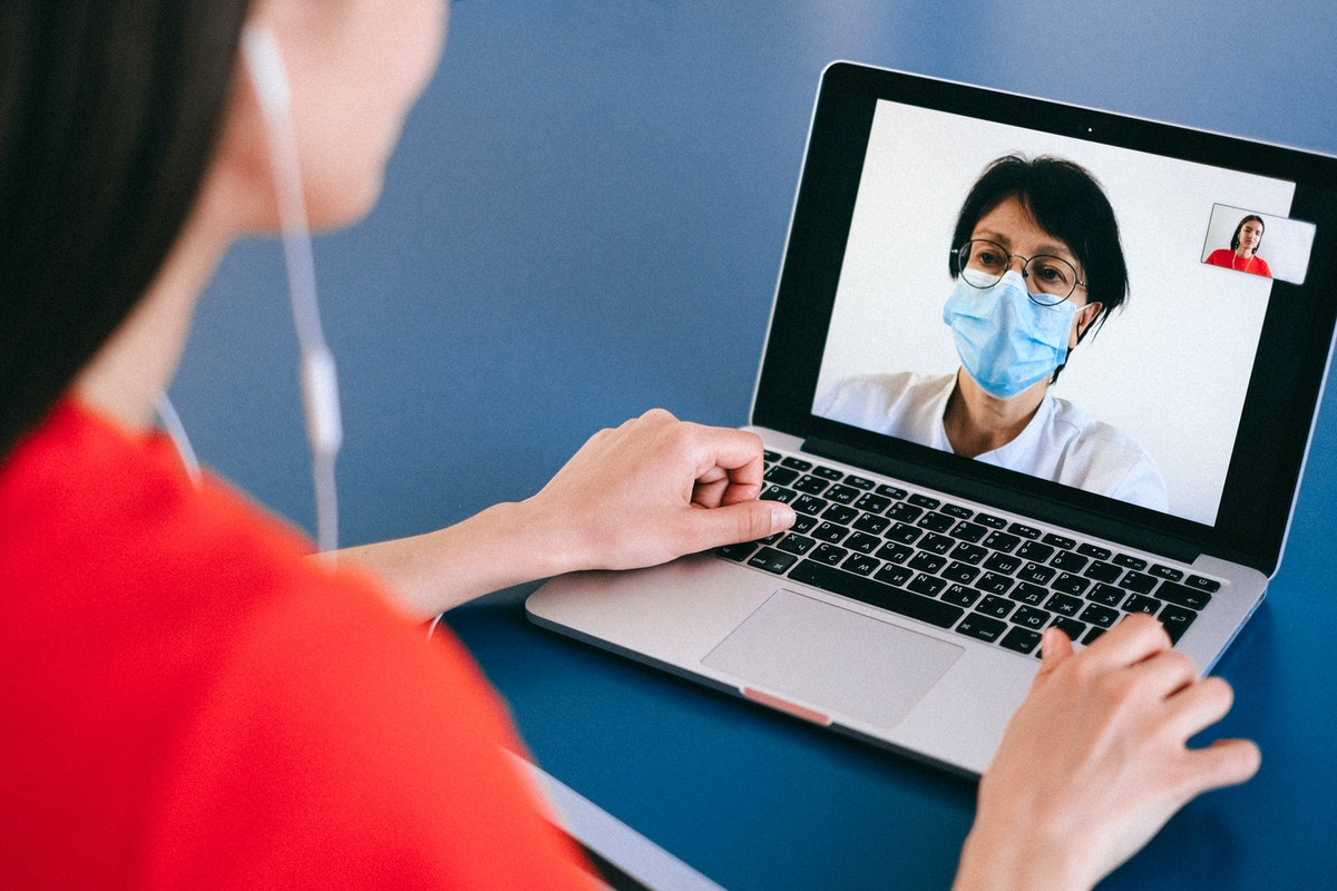 video call with doctor