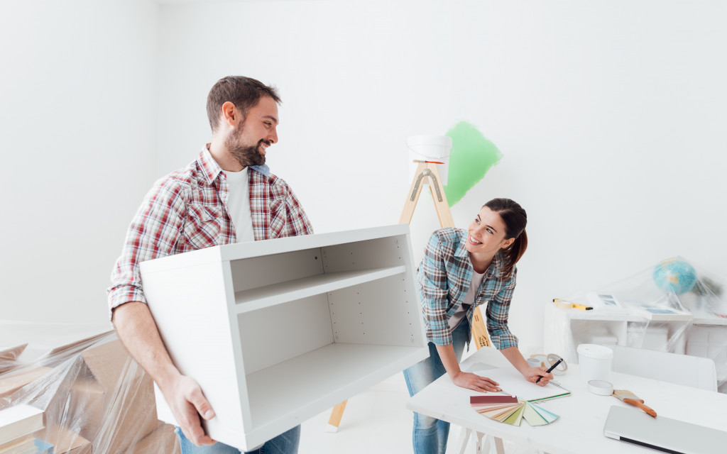 people renovating their home